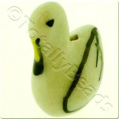 Ceramic Animal Bead - Swan