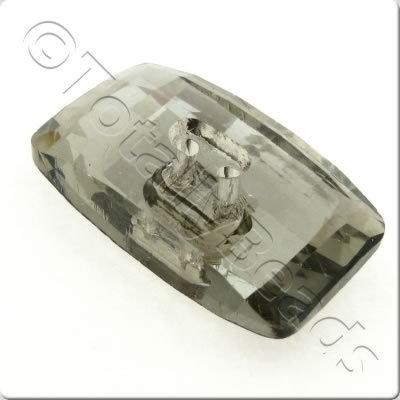 Crystal Button - Rectangle 30mm - Grey