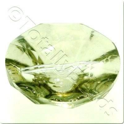 Crystal Button 20mm - Champagne