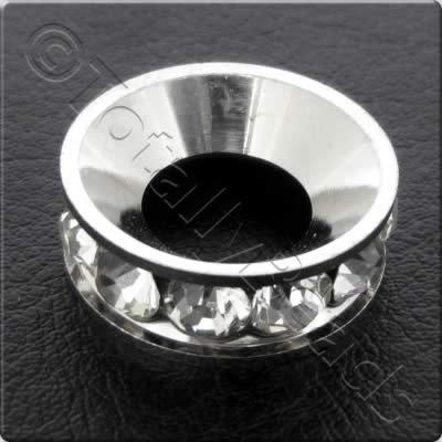 Crystal Diamante Spacer - Ring - 20x7mm