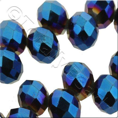 Crystal Top Rondelle 8x6 - Blue Iris