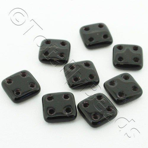 CzechMates QuadraTile 7g 50pcs - Jet Black