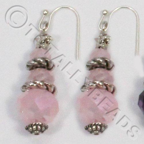 Christmas Tree Earrings - Pink AB