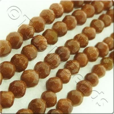 Gold Sandstone 3mm Facet Round