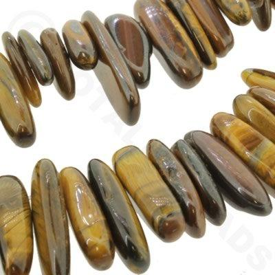 "Gemstone Long Nuggets - Tiger Eye 16"" String"
