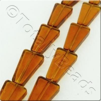 Triangle Drop - 16x9mm - Brown - 20pcs