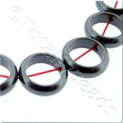 Hematite - Thin Doughnut 10mm
