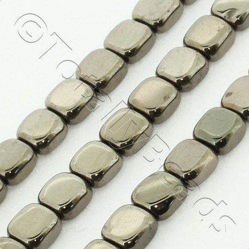 Hematite Flat Square 4mm - Coffee Plated