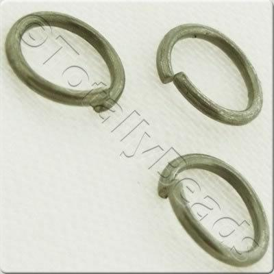 Jump Rings 8x1mm - Dull Silver Plated