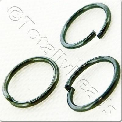 Jump Rings 8mm - Black Plated
