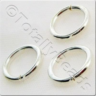 Jump Rings 12x1.2mm - Silver Plated