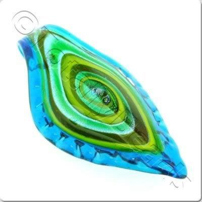 Lampwork Pendant - Shield 80mm - LPT35