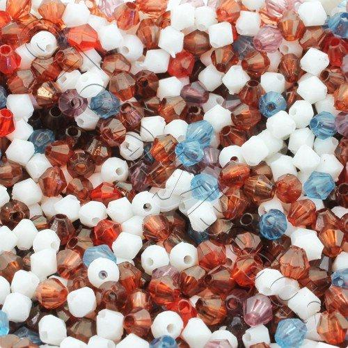 Acrylic Bicone 4mm 500pc - Mixed