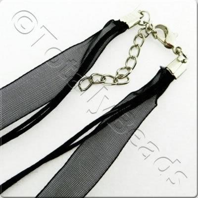 Organza Necklace Cord - Black