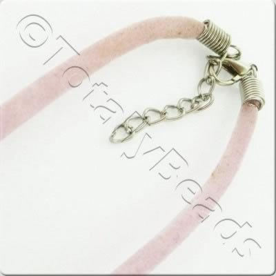 Velour Necklace Cord - Pink