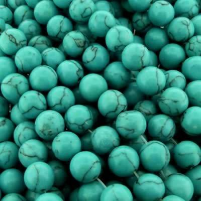 Synthetic Turquoise Round Beads 10mm - Turquoise