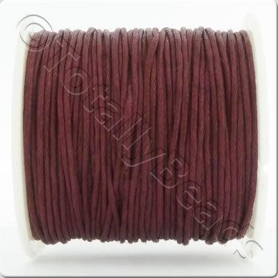 Wax Cotton Cord 1mm - Burgundy