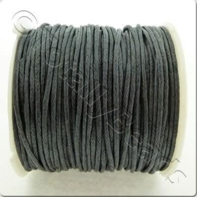 Wax Cotton Cord 1mm - Grey