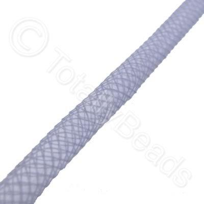Nylon Mesh Tubing - 4mm Grey - 4m pack