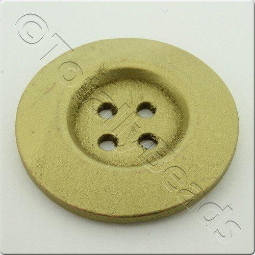 Wooden Button 50mm - Gold