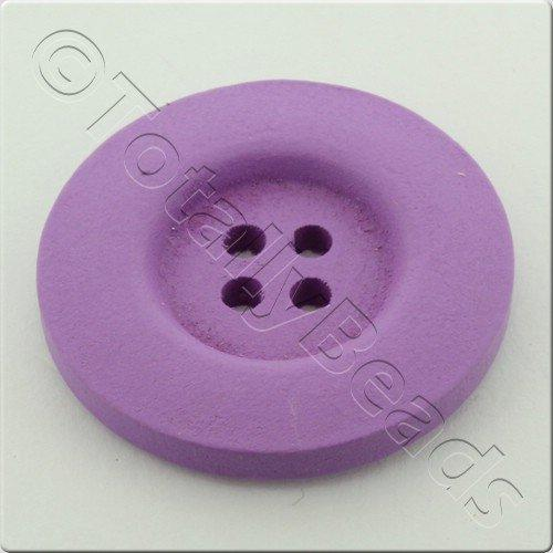 Wooden Button 30mm - Lilac