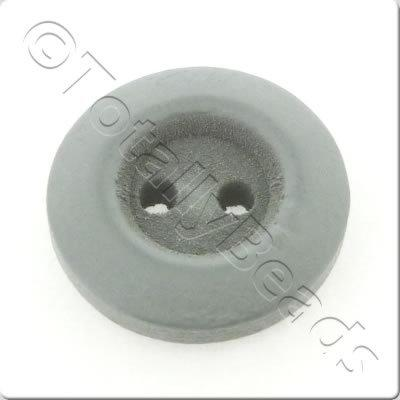 Wooden Button 15mm - Grey