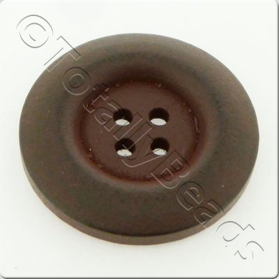 Wooden Button 30mm - Dark Brown