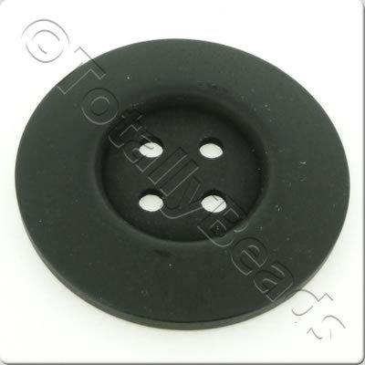 Wooden Button 60mm - Black