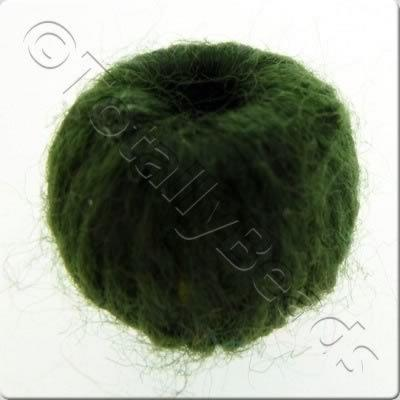 Wool Bead 22mm - Dark Green