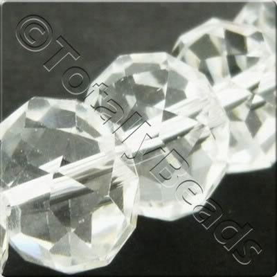 Crystal Rondelle 10x14mm - Clear