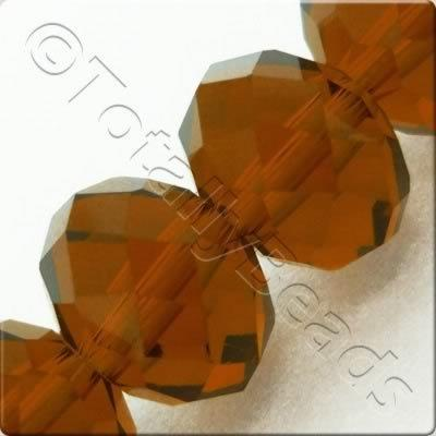 Crystal Rondelle 10x14mm - Brown