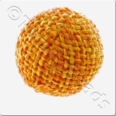 Weaved Hatch Bead - Orange