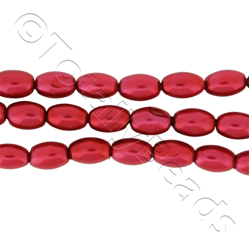 Glass Pearl Rice - Red