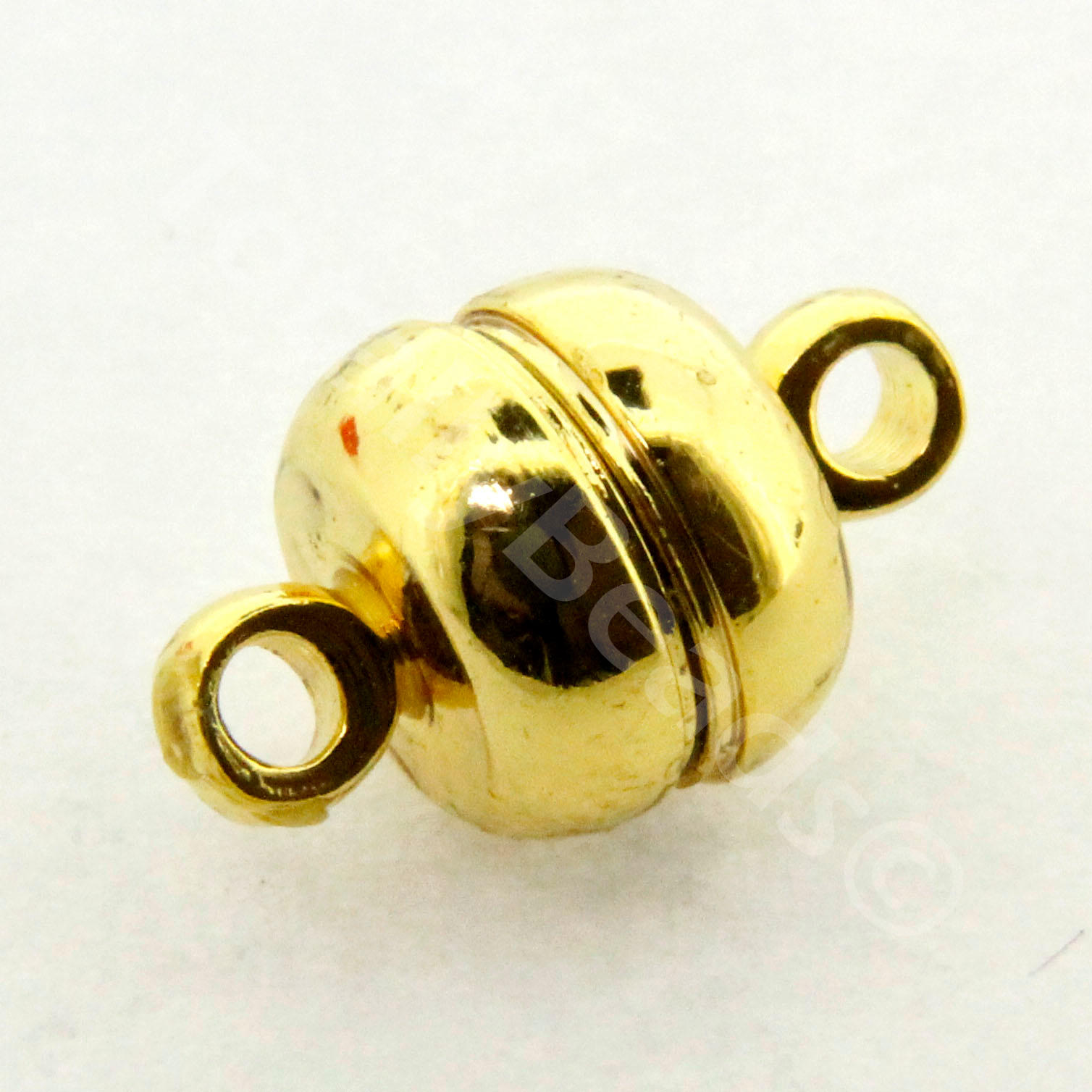 Magnetic Bell Clasps 8mm - Gold Plated - 2pcs