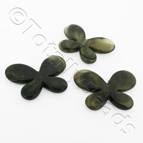 Acrylic Butterflies 32mm - Black 8pcs