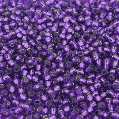 Toho Size 8 Seed Beads 10g - Silver Lined Purple