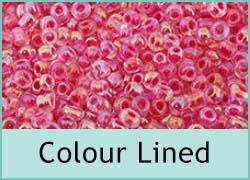 Colour Lined Seed Beads