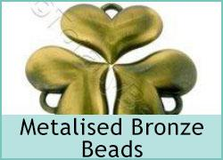 Acrylic Metal Bronze Bead