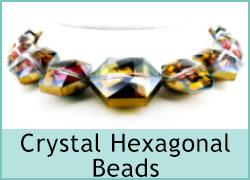 Crystal Hexagonal Beads