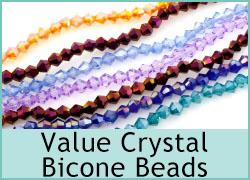 Value Crystal Bicone Beads - 6 String Packs