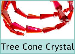Crsytal Cone/Tree Beads