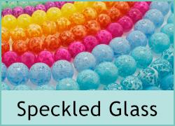 Speckled Glass Beads