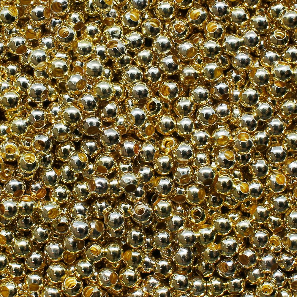 Spacer Beads - Gold Plated - 2mm
