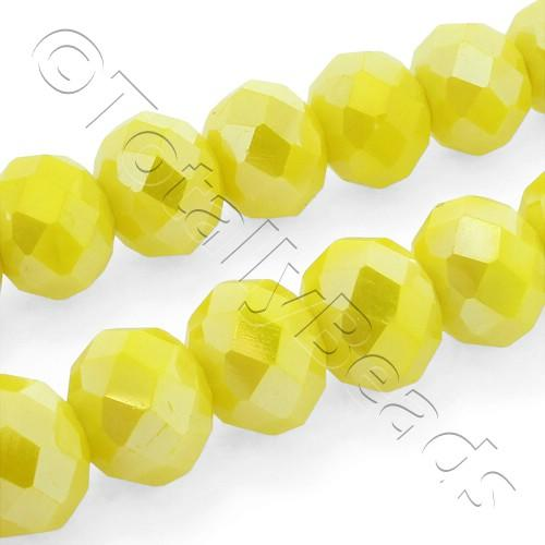 Crystal Rondelle 8x10mm - Opaque Yellow AB