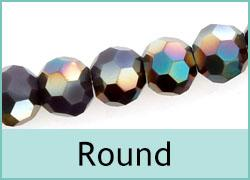 Crystal Beads Round