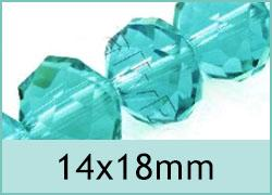 14x18mm Crystal Rondelles