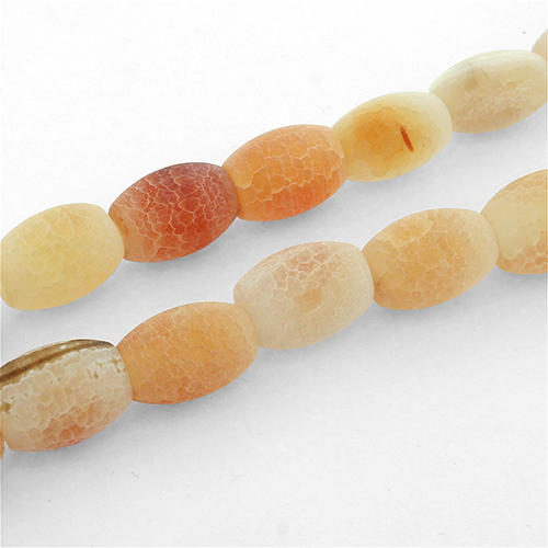 Fire Agate Rondelle 14mm Beads - AGT16