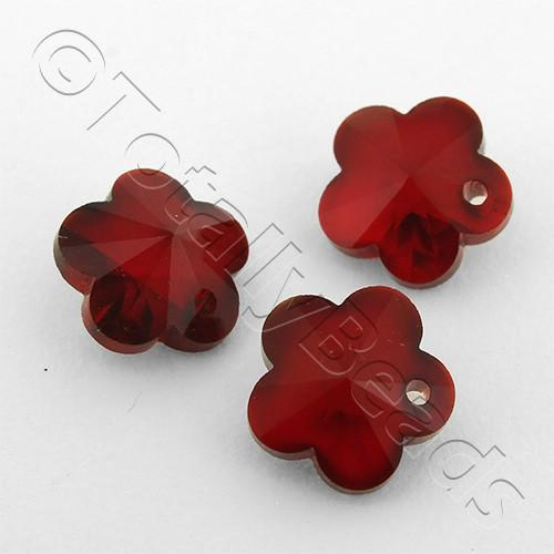 Crystal Charm Flower 10mm - Siam 10pcs