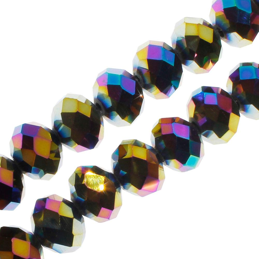 Crystal Rondelle 8x10mm - Rainbow Plate