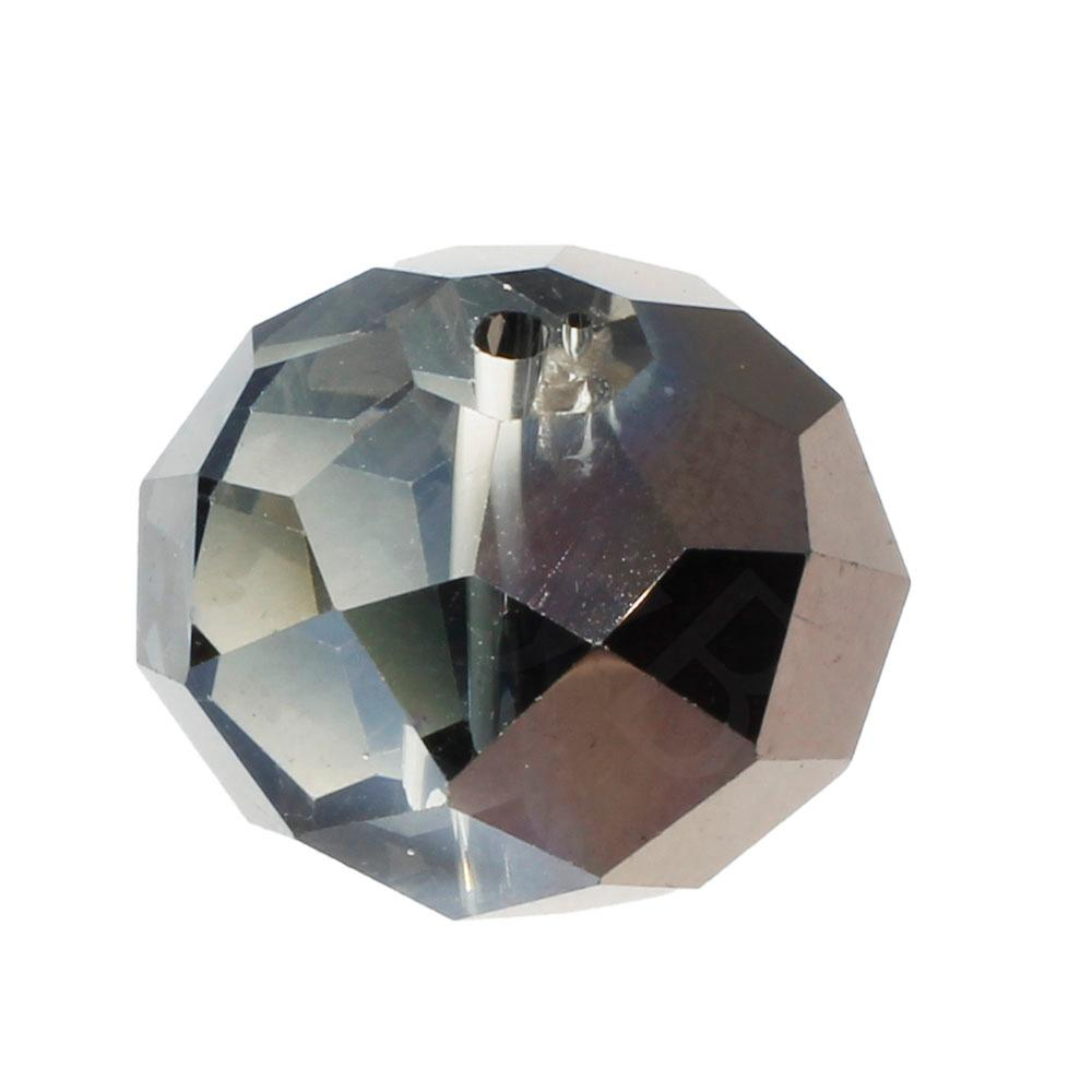 Crystal Rondelle 14x18mm - Black Diamond Shadow 1pc